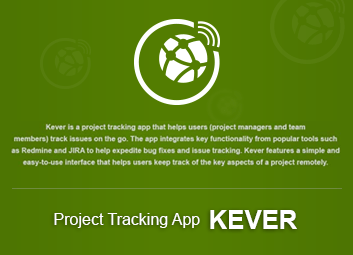 Kever Project Tracking App Demo